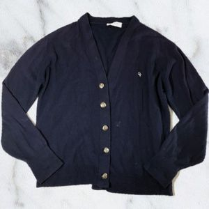 Christian Dior Monsieur Navy Blue Cardigan Sweater